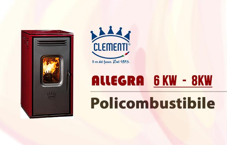 Stufa policombustibile Allegra di Clementi