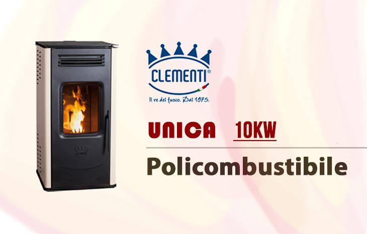 Stufa policombustibile Clementi Unica